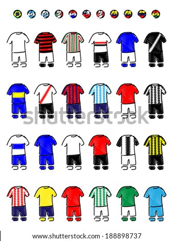 latin american clubs jerseys