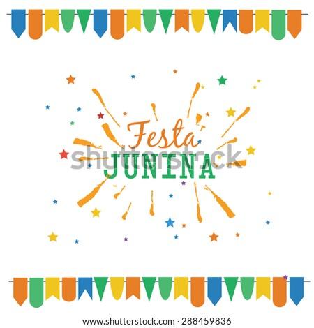 Latin American holiday Festa Junina vector illustration
