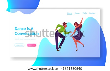Latin Samba Class Training Website Landing Page. Dancers Performing Brazil Dance during Rio Carnival or Competition. People Dancing Active Hobby Web Page Banner. Cartoon Flat Vector Illustration