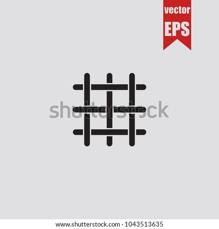 Lattice icon in trendy isolated on grey background.Vector illustration.