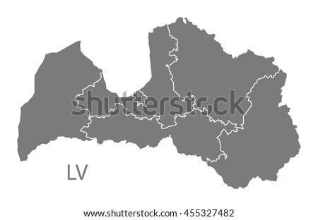 Free Latvia Map Vector Download Free Vector Art Stock Graphics