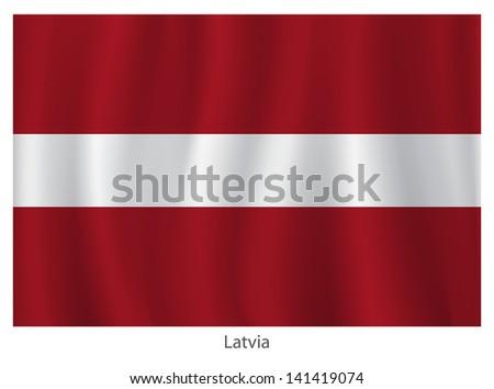 Latvia vector flag
