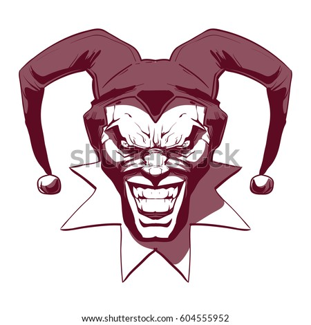 laughing angry joker  character