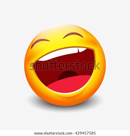 laughing emoticon   vector