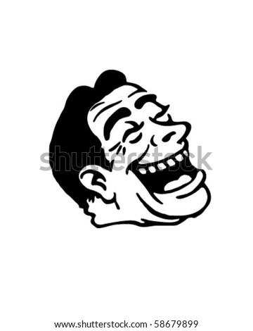 Laughing Fool - Retro Clip Art