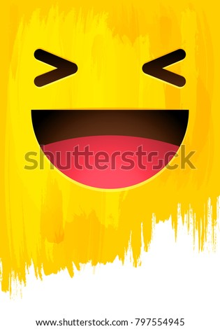 laughing happy smiley face on