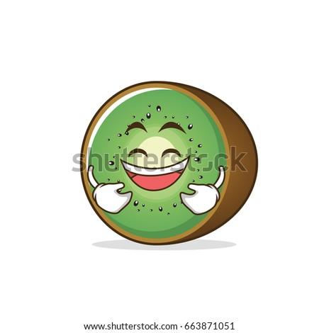 laughing kiwi fruit character