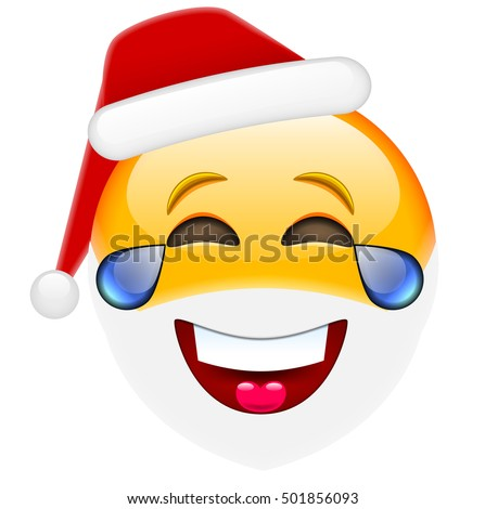 laughing santa smile with tears