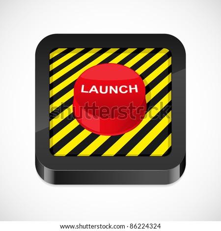 Launch button icon. Vector illustration. - stock vector
