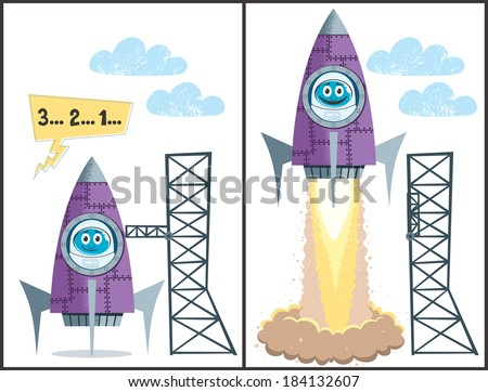 launch  comics about rocket