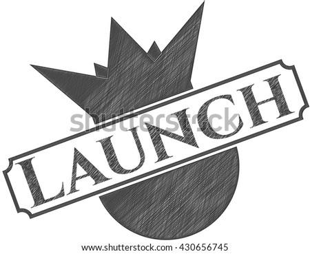 Launch draw (pencil strokes)