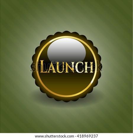 Launch gold emblem or badge