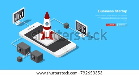 Free Business Startup Concept in Vector - Download Free Vector Art