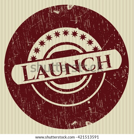 Launch rubber grunge texture seal
