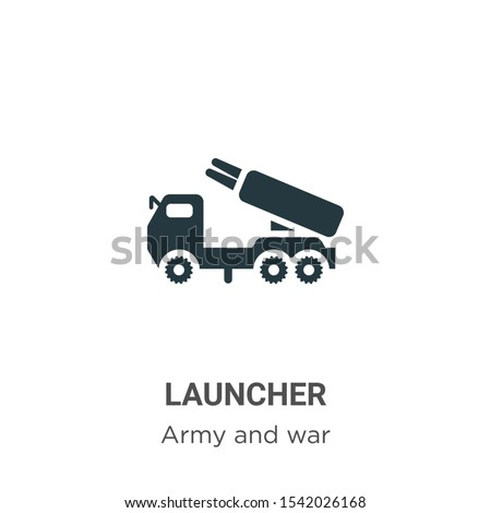 Launcher vector icon on white background. Flat vector launcher icon symbol sign from modern army collection for mobile concept and web apps design.