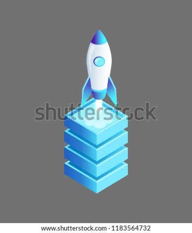 launching spaceship flying