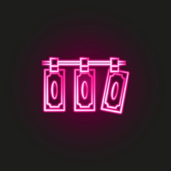 laundering money, mafia neon style icon. Simple thin line, outline vector of mafia icons for ui and ux, website or mobile application