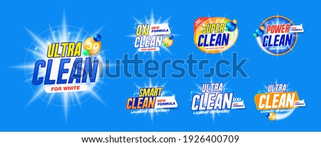 Laundry detergent template Set for Cleaning service, package design, Washing Powder and Liquid Detergents ready for branding and ads design.
