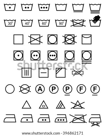 laundry icons   illustration