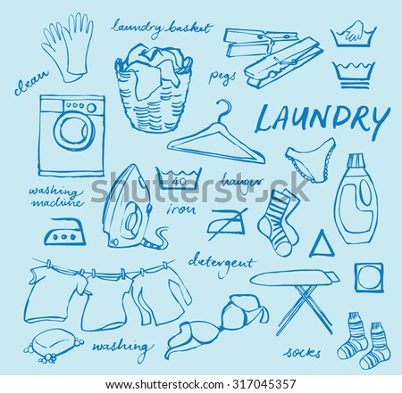Laundry Icons Vector Set