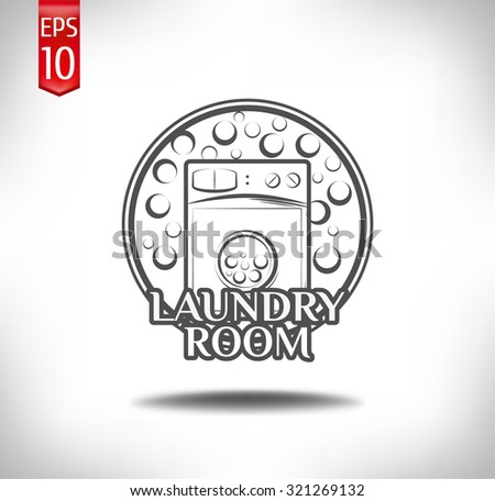 laundry room label and badge
