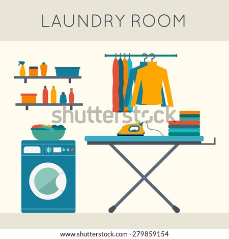 laundry room with washing