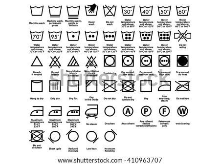 LAUNDRY SYMBOL. CARE SYMBOLS. VECTOR.