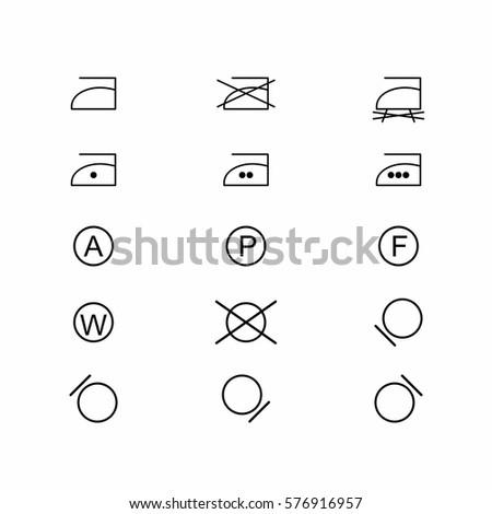 laundry symbols and icons set 3