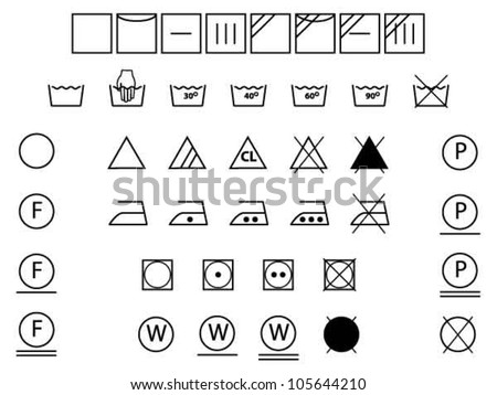 Laundry Symbols For Washingdryingbleachingironing