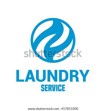 laundry vector emblem  logo