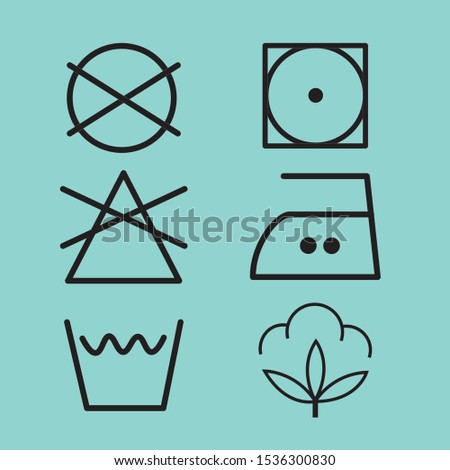 Laundry Vector Icons set, Vector set.