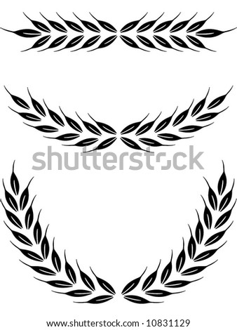 Laurel Crown Stock Vector 10831129 : Shutterstock