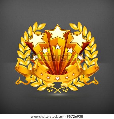 Laurel emblem, vector