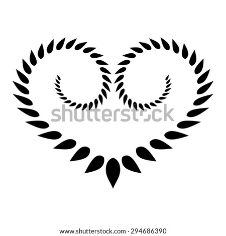 laurel heart wreath tattoo