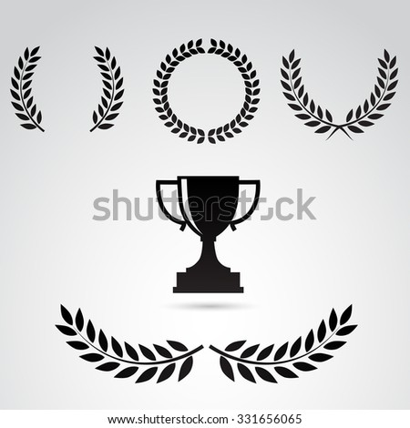 laurel icon isolated on white