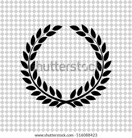 Laurel wreath -  black vector icon