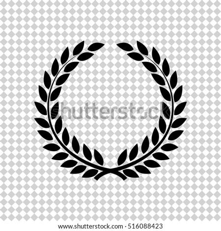 Laurel wreath -  black vector icon