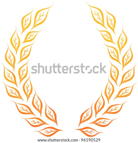 laurel wreath vector illustration