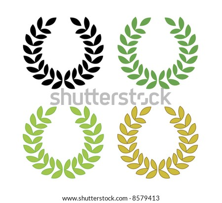 laurel wreath vector - suggested colors - stock vector