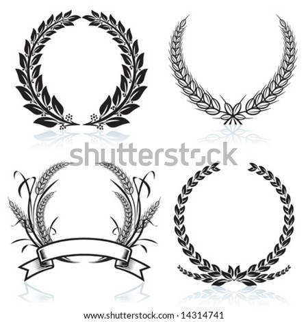 Laurel Wreaths pattern design, vector illustration file. - stock vector