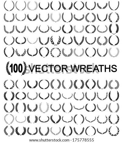 Laurel Wreaths Vector Сток-фото ©
