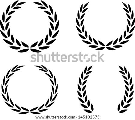 Laurel Wreaths Vector Isolated