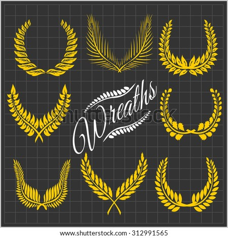 laurel wreaths     wreaths of