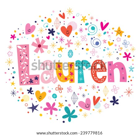 lauren female name decorative