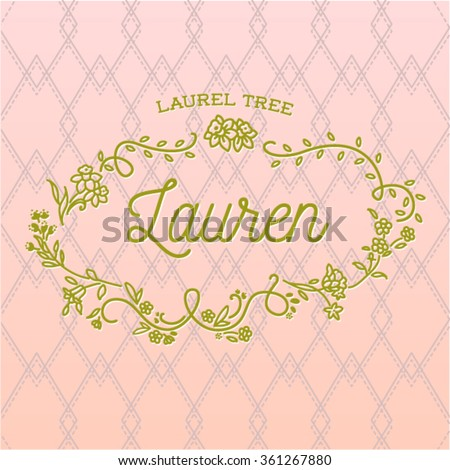 lauren girls name decorative