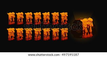 lava animation sprite sheet