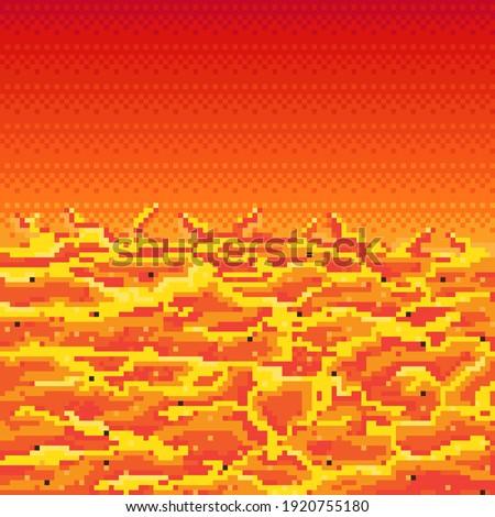 lava pixel art lava in space