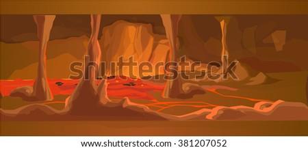 lava scene for illustration and