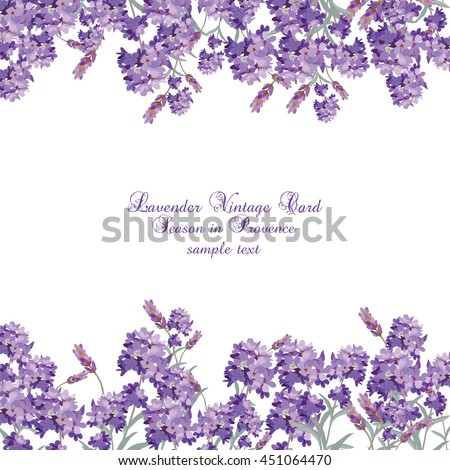 lavender card with flowers in