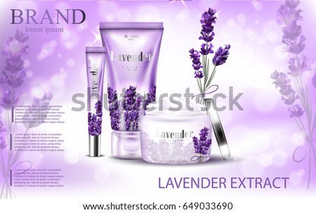 lavender cream ads  natural